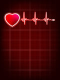 Heartbeat monitor electrocardiogram. EPS 10 Royalty Free Stock Photography