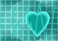 Heartbeat pulse Stock Images