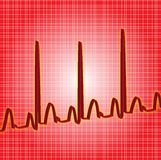 Heartbeat red. Heart beat red line read out Stock Images