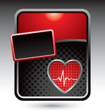 Heartbeat on red stylized advertisement Stock Photos