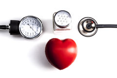 Heartbeat and Salt Royalty Free Stock Images