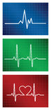 Heartbeat set Stock Photo