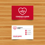 Heartbeat sign icon. Cardiogram symbol. Stock Image