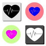 heartbeat. flat vector icon stock illustration