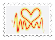 Heartbeat on a stamp Stock Photo