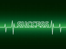 Heartbeat with success Stock Image