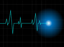 Heartbeat Vector background Royalty Free Stock Photos