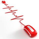 Heartbeating en el Internet 3 stock de ilustración