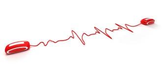 Heartbeating en Internet Fotos de archivo libres de regalías