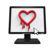 Heartbleed Bug in Computer Screen Stock Photography