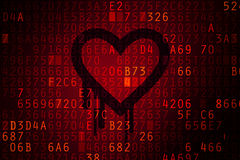 Heartbleed bug concept. Heartbleed bug. Cracked Password and internet security issue concept Royalty Free Stock Photography