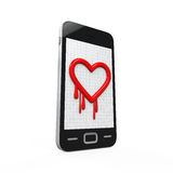 Heartbleed Bug in Mobile Phone Royalty Free Stock Image