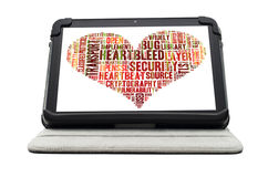 Heartbleed exploit concept Royalty Free Stock Photo