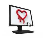 Heartbleed fel i datorskärm vektor illustrationer