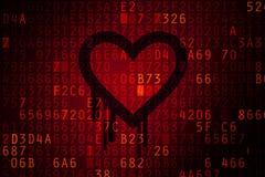 Heartbleed felbegrepp. Royaltyfri Fotografi