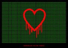 Heartbleed openssl bug vector shape Royalty Free Stock Image