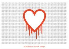 Heartbleed openssl bug vector shape Stock Photography