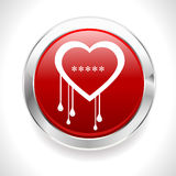 Heartbleed openssl bug virus bleeding heart badge - vector eps10 Stock Image