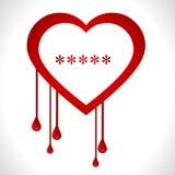 Heartbleed openssl bug virus bleeding heart - vect Stock Image