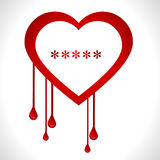 Heartbleed openssl bug virus bleeding heart - vect. I have created heartbleed bug concept vector illustration