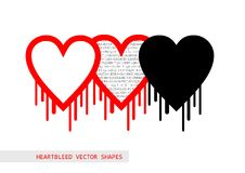 Heartbleed openssl pluskwy wektorowy kształt Zdjęcia Stock