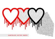 Heartbleed openssl pluskwy wektorowy kształt Obrazy Stock