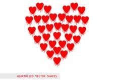 Heartbleed openssl pluskwy wektoru wzór Obrazy Stock