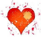 Heartbreak. Broken heart illustration, love concept Stock Photography
