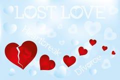 Heartbreak illustration. Lost love illustration - background stock illustration