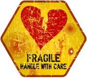Heartbreak, Love concept. Warning sign: heartbreak, Love concept, vector illustration Stock Photo