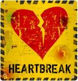 Heartbreak sign. Warning sign: heartbreak, Love concept, vector illustration Stock Photo