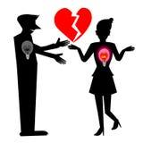 Heartbreak, Silhouette Royalty Free Stock Photography