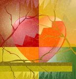 Heartbreak station. Heart for saint valentines day or other situation Stock Images