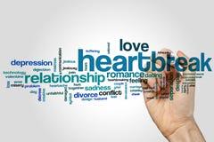 Heartbreak word cloud Stock Images