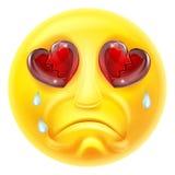 Heartbroken Crying Emoji Emoticon Stock Photography