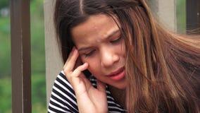 Heartbroken Or Hopeless Teen Girl stock video