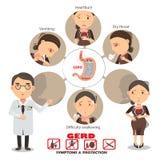 heartburn illustration stock