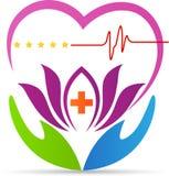 Heartcare logo Obrazy Royalty Free