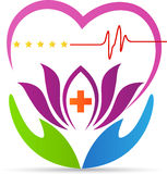 Heartcare logo. A vector drawing represents heartcare logo design stock illustration