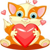 Heartcat Royalty Free Stock Images