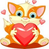 heartcat Royaltyfria Bilder