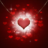 Hearted Background Royalty Free Stock Photos