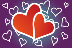 Hearted background Stock Photo