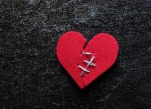 Hearted cassé Image libre de droits