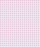 Hearted pattern Royalty Free Stock Image