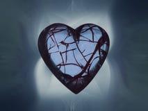 Hearted quebrado imagen de archivo libre de regalías
