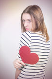 Hearted rotto fotografie stock