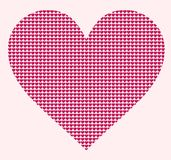 Hearted stylized heart royalty free stock photos