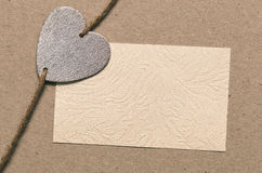 Heartfelt message. Blank paper for your text go design, the symbolic heart Stock Photography
