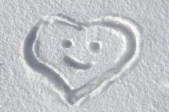 Heartfelt Message in snow Stock Photo